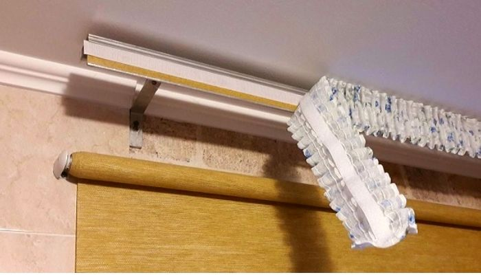 Необычный способ обновления старых карнизов для штор