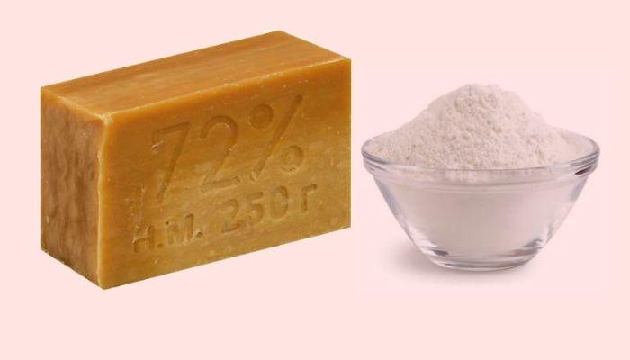 Хозяйственное мыло и сода